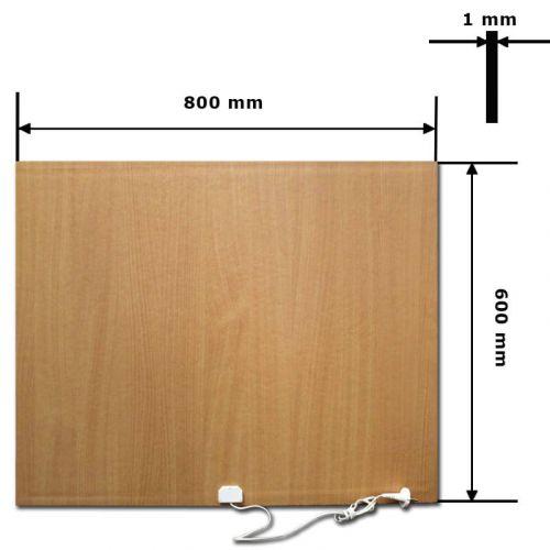 INFRAČERVENÝ PANEL 80x60cm - INFRADŮM