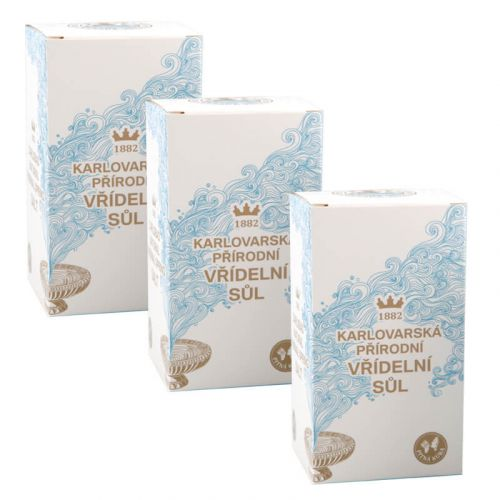 SET OF 3 PIECES - CARLSBAD NATURAL THERMAL SPRING SALT - 100g